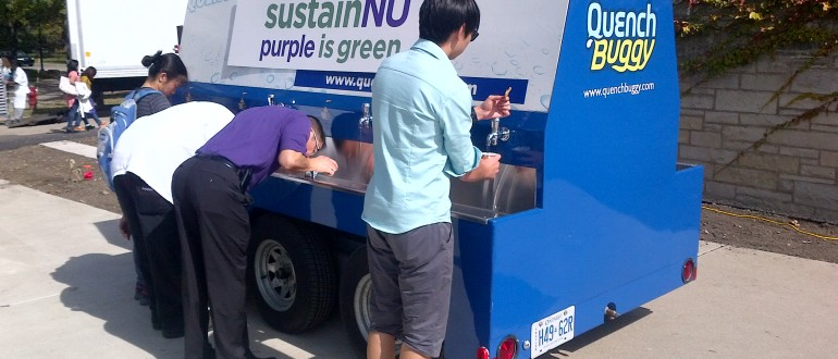 Drinking water stations at university